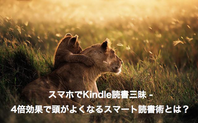 スマホでKindle読書三昧 - 4倍効果で頭がよくなるスマート読書術とは?